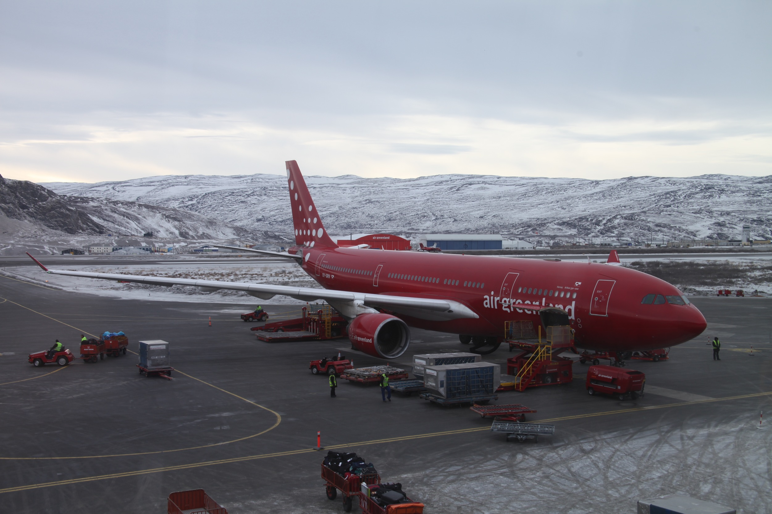 Built by the US Military during WW2, Kangerlussuaq airport is the largest in Greenland (Photo by Andrew Evans)