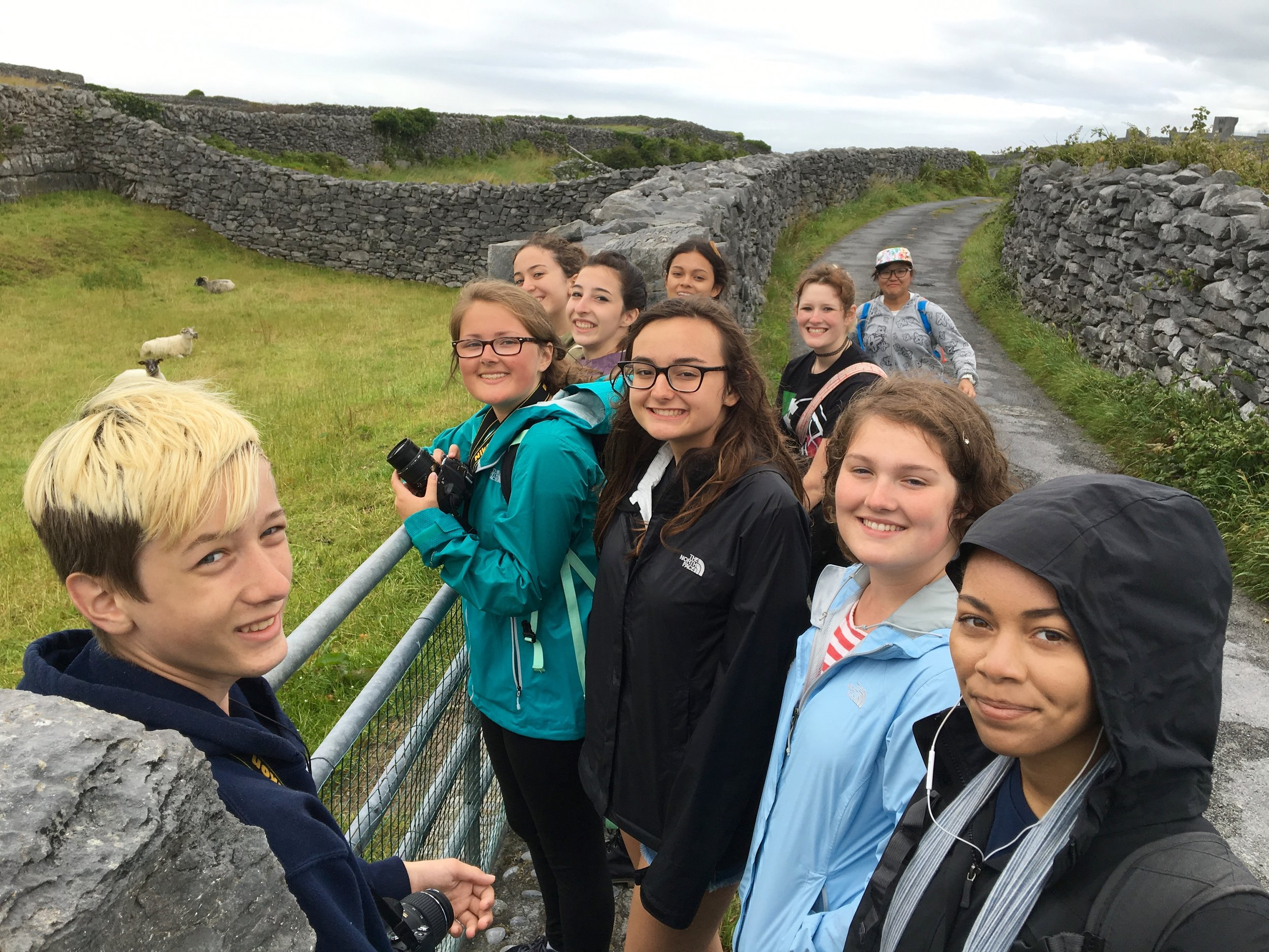 A few of my lucky students, observing sheep on the isle of Inis Oírr (Photo by Andrew Evans)