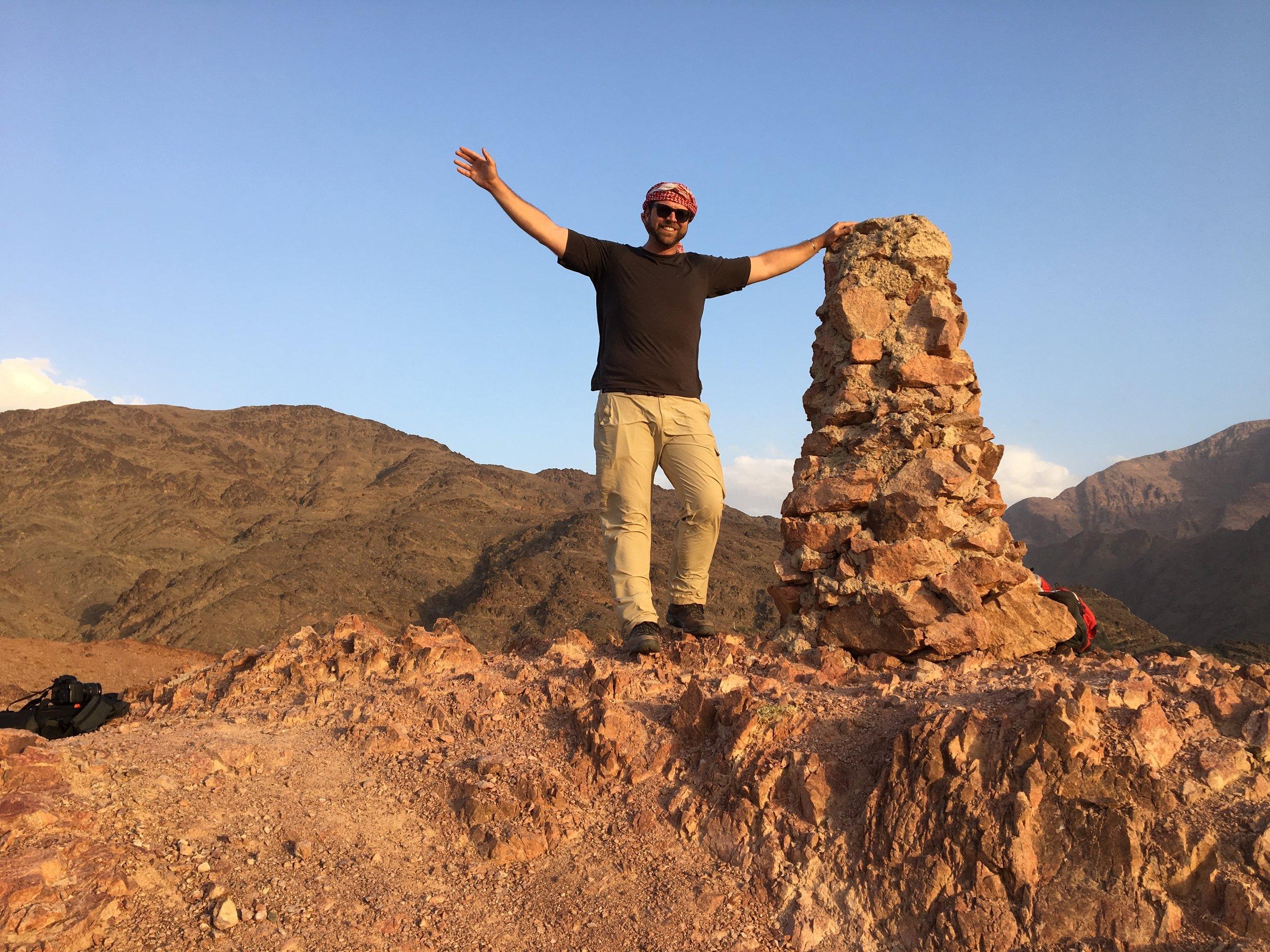 Hiking on the Jordan Trail near Feynan (Photo by Andrew Evans)