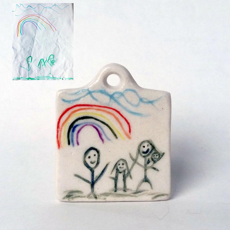Child's Drawing Pendant