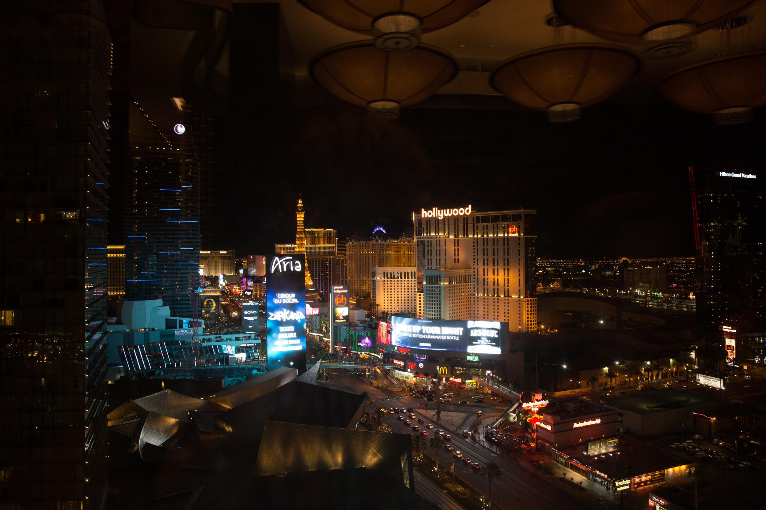 1am cocktails overlooking Vegas...
