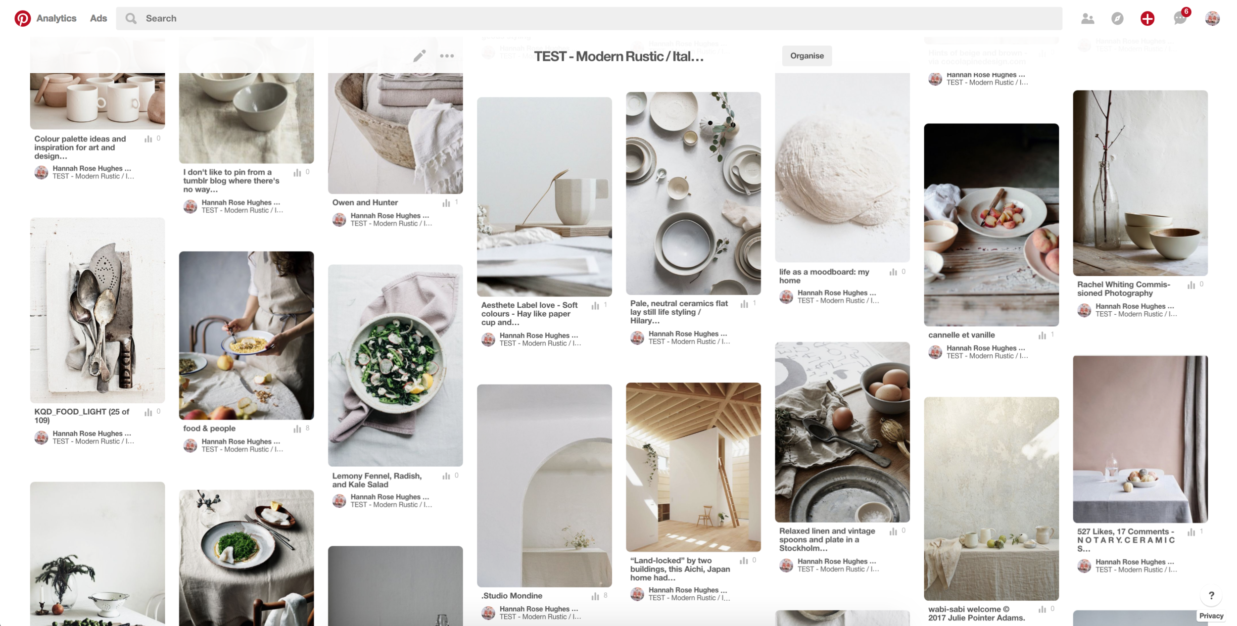 The start of the  Pinterest board . Click the image to see the board itself...