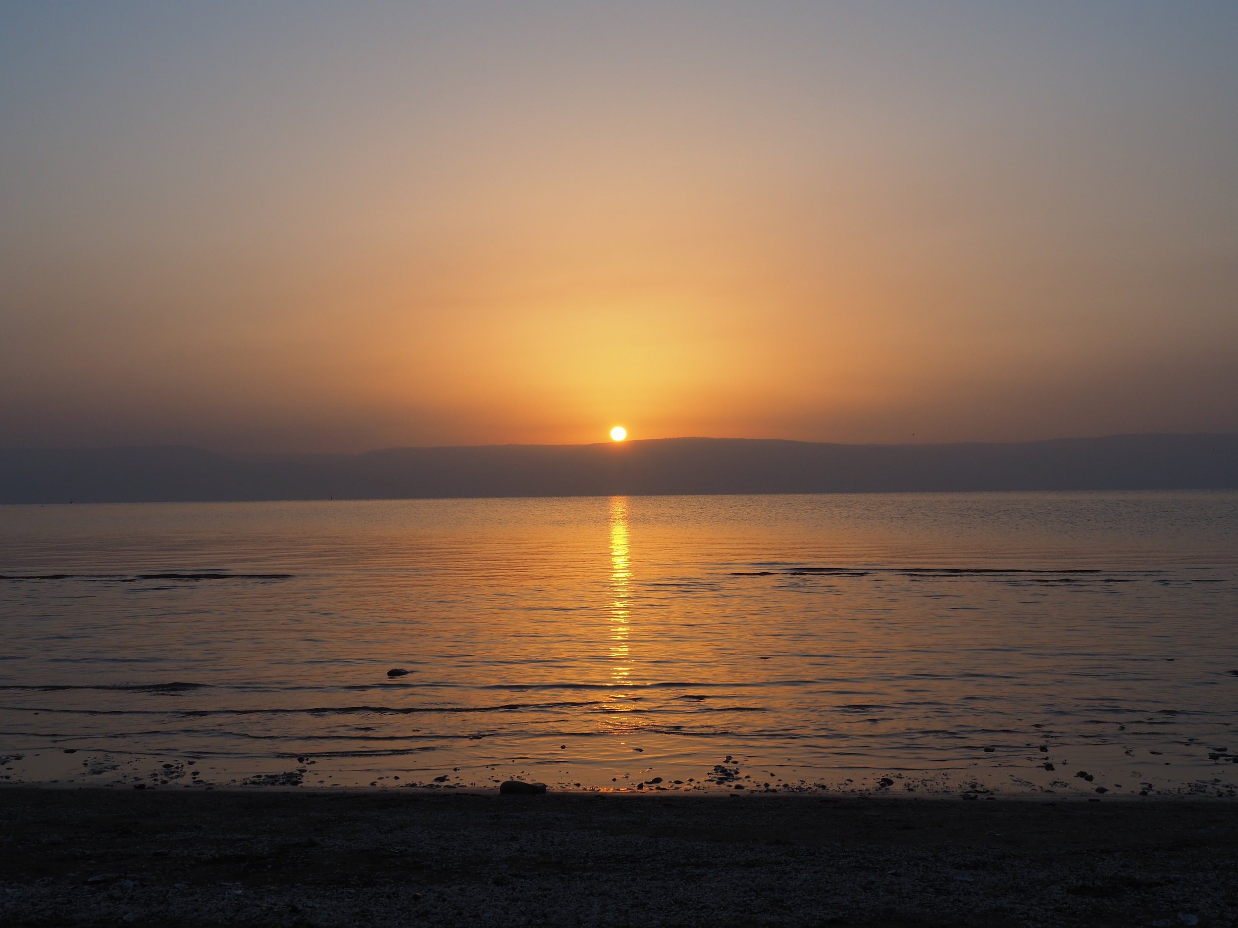 Sunrise Over the Sea of Galilee. Taken from modern day Tiberias, in what would have been part of ancient settlement of the tribe of Naphtali.