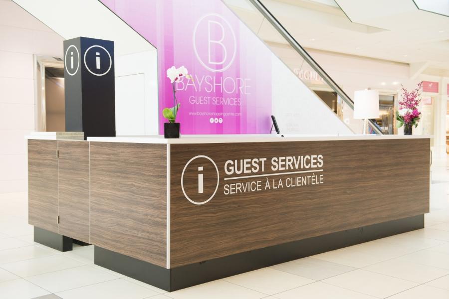 Bayshore Shopping Centre, Customer Service Wall Design