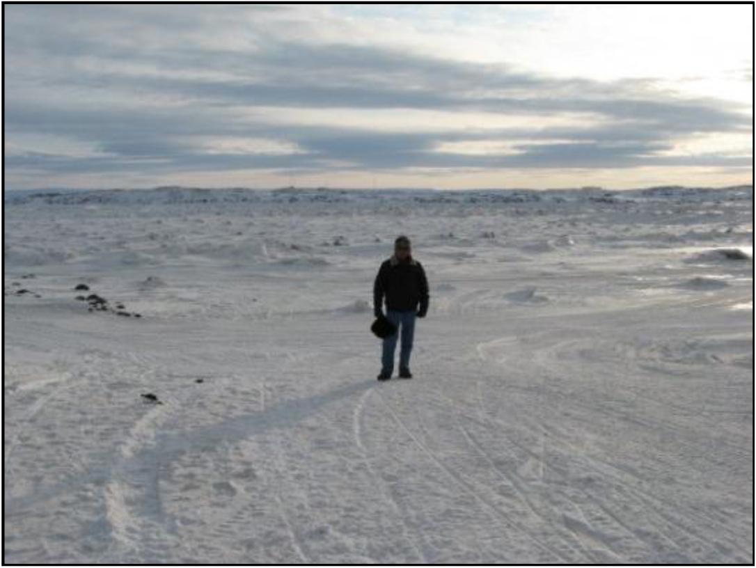 Frobisher Bay (Iqaluit), Canada, in winter
