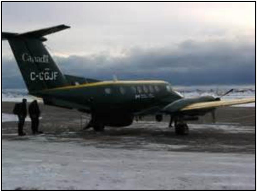 Frobisher Bay (Iqaluit), Canada, airport in winter