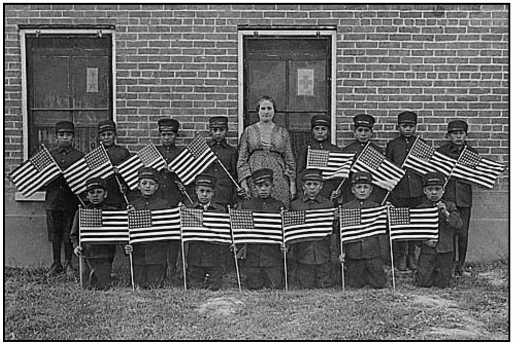 Enforced patriotism at an Indian residential boarding school
