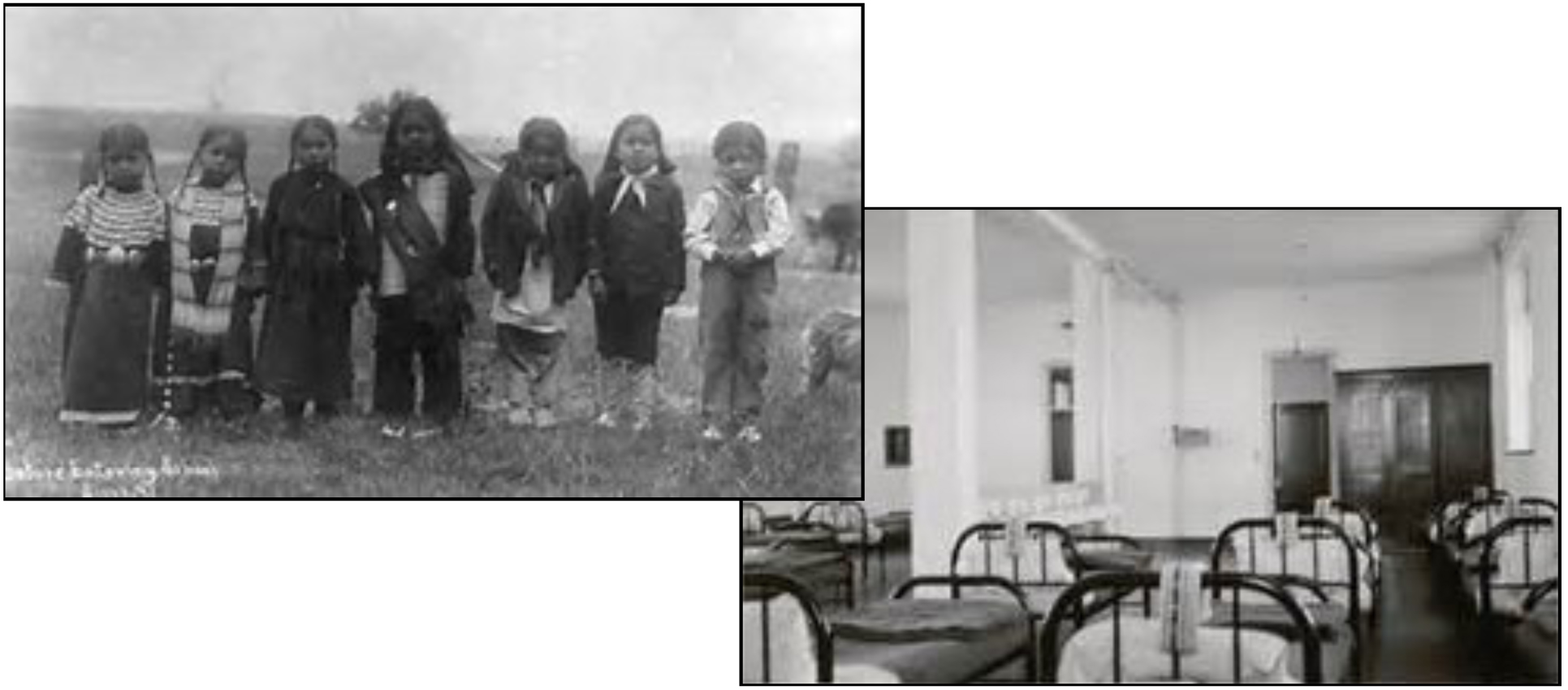 Soon to go to school / Dormitory —images from Indian boarding schools