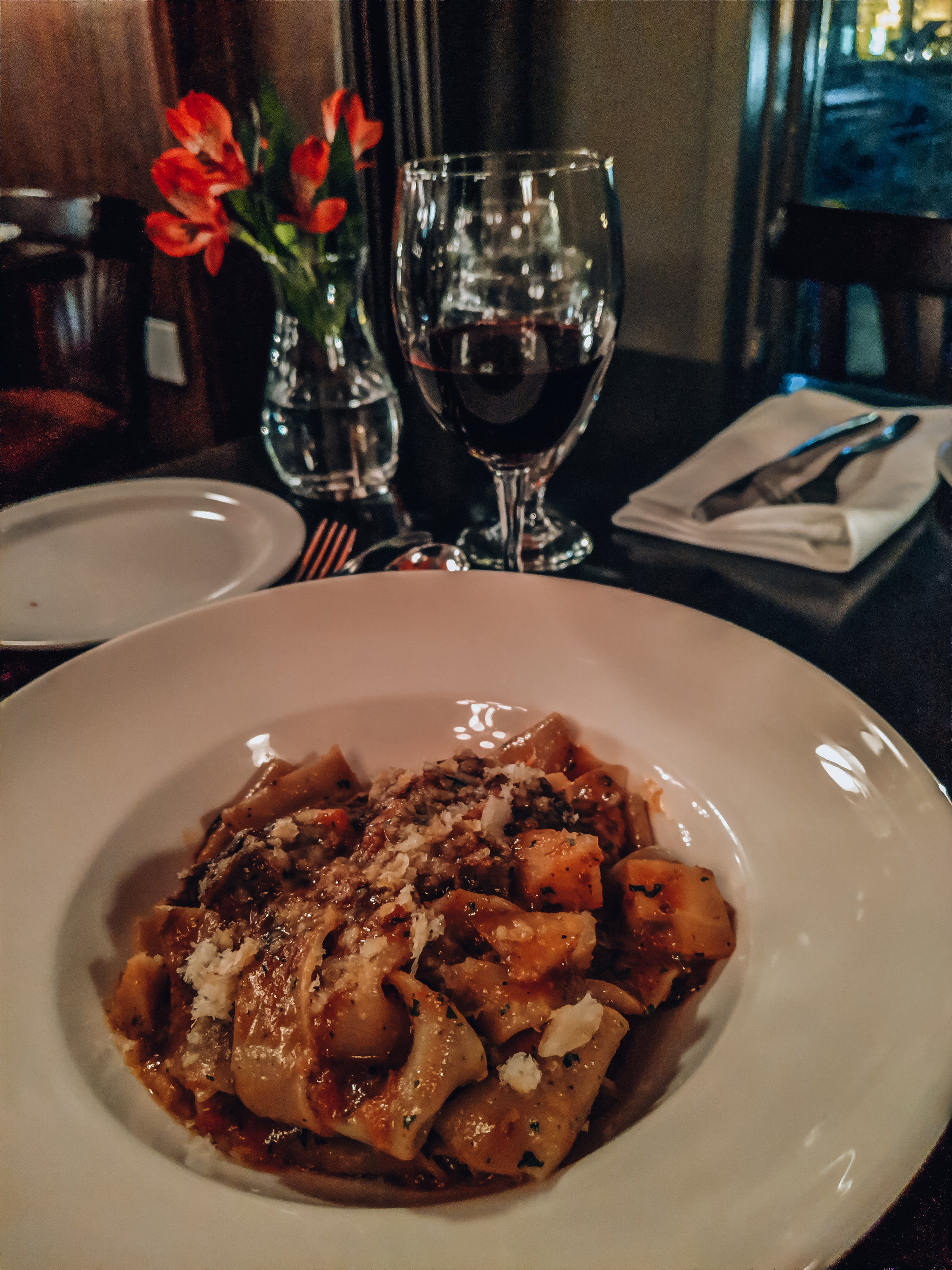 Black Pepper Pappardelle at Pazzo