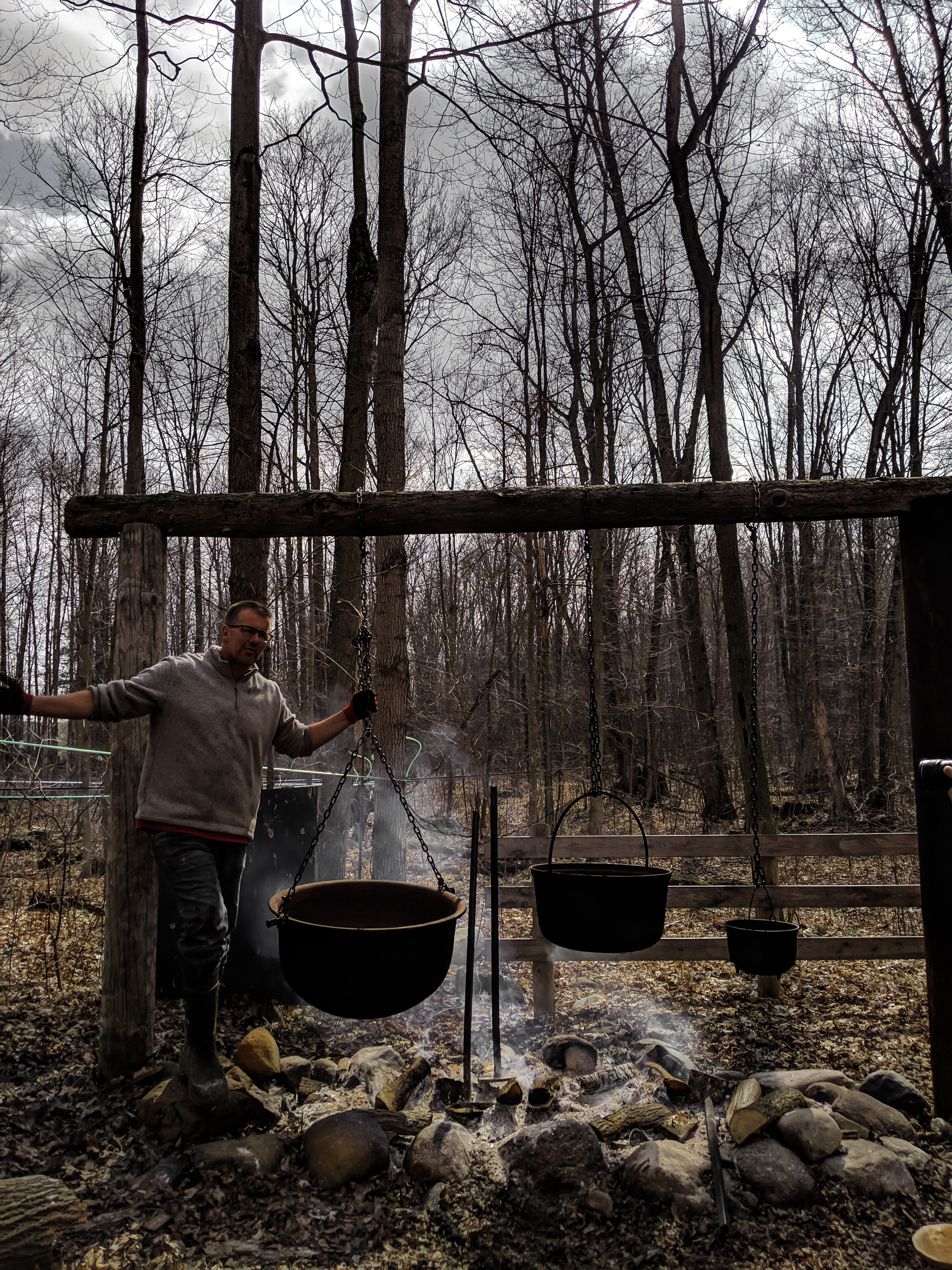 Sugar Bush tour, with the owner himself.