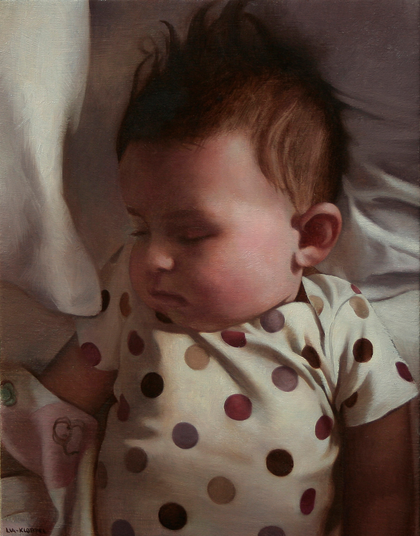 Isabella Asleep , 2011, Oil on linen, 11 x 9 inches