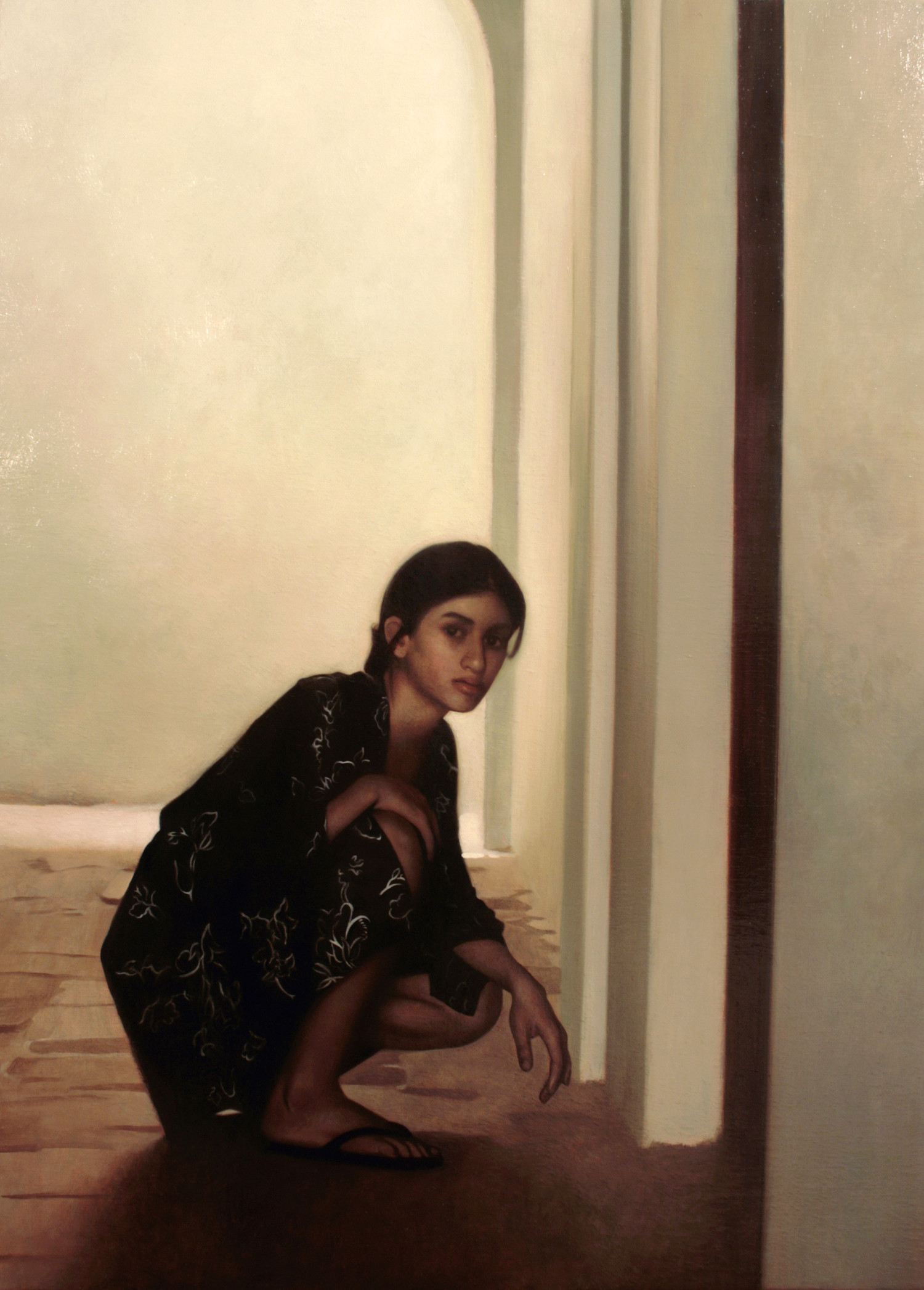 Passage , 2009, Oil on linen, 30 x 22 inches, Private collection