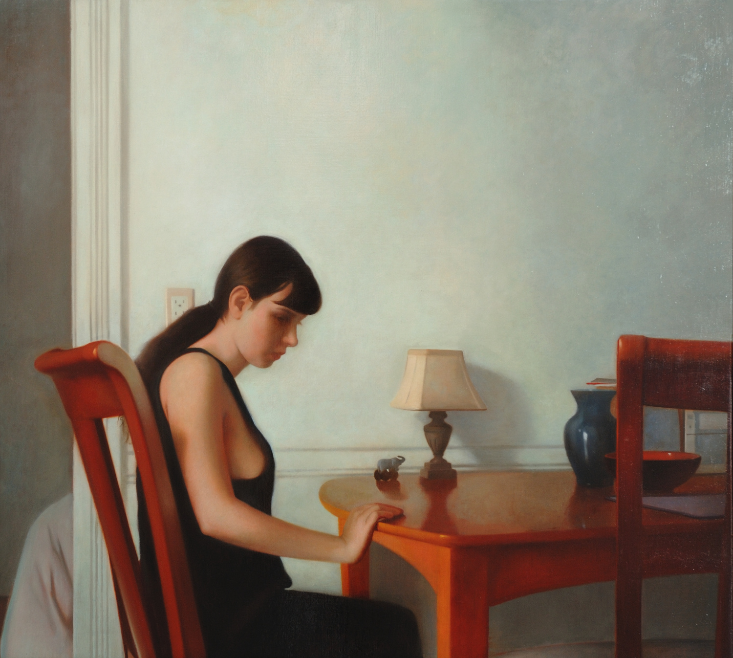 Transposition , 2007, Oil on linen, 34 x 38 inches, Private collection