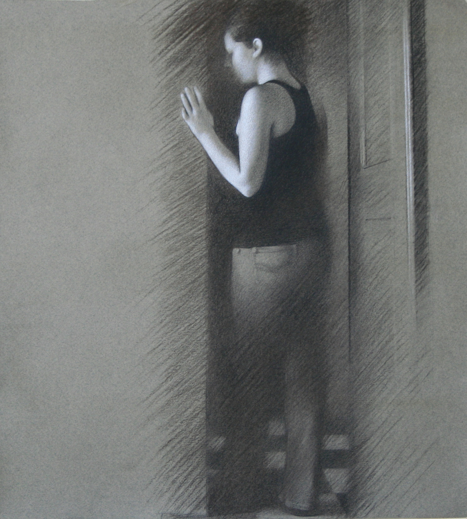 Evanesce Study , 2009, Charcoal on paper, 15 x 14 inches
