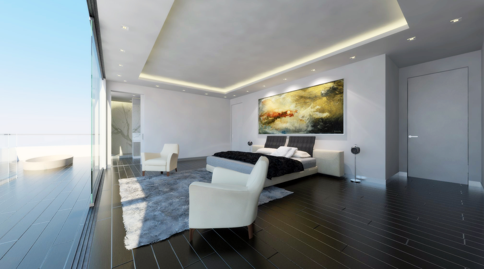 pent house: master bedroom