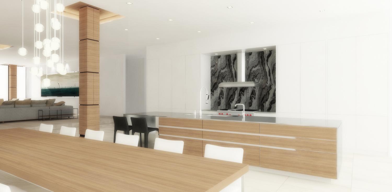 pent house: kitchen