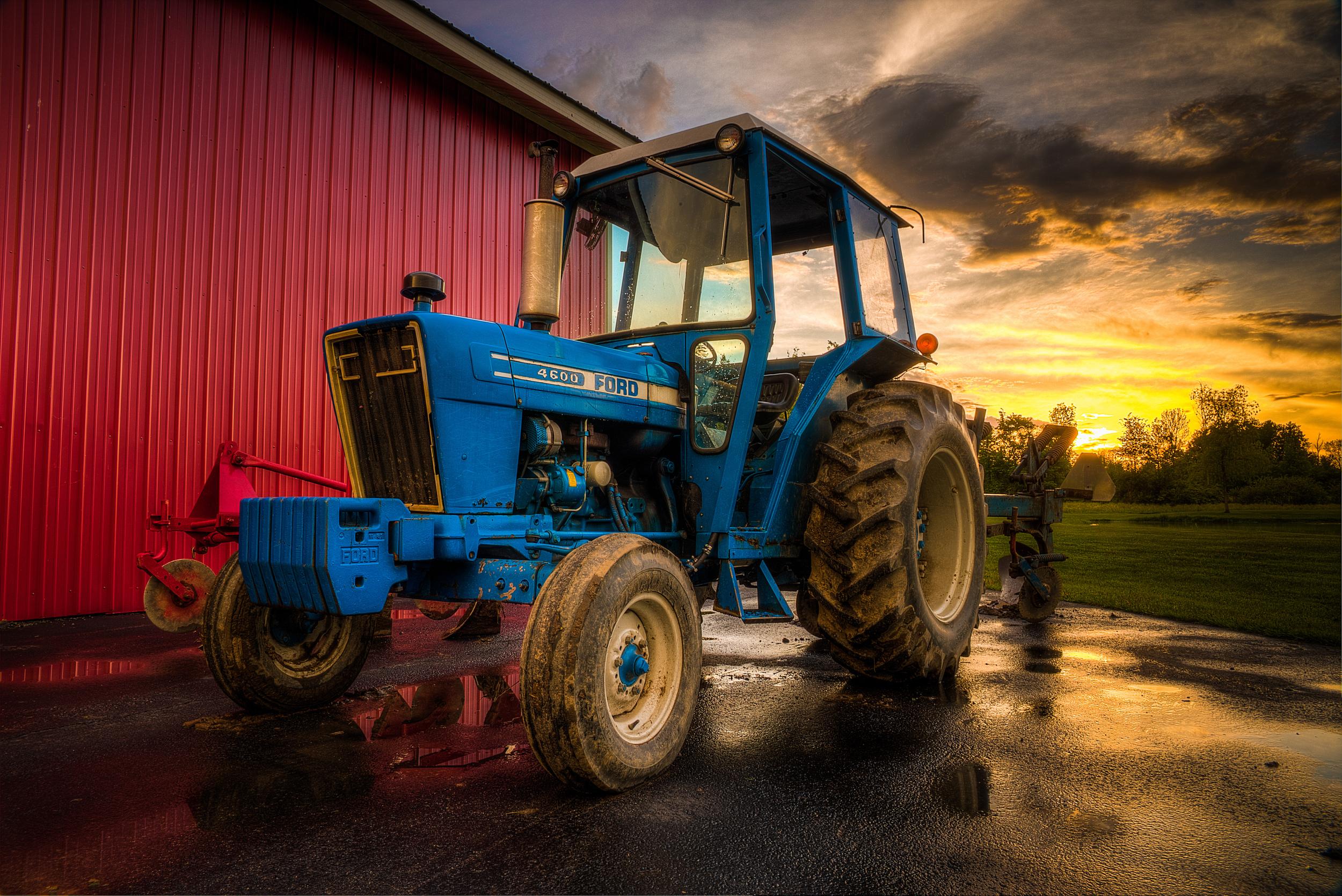 Whitesboro NY Tractor Blue