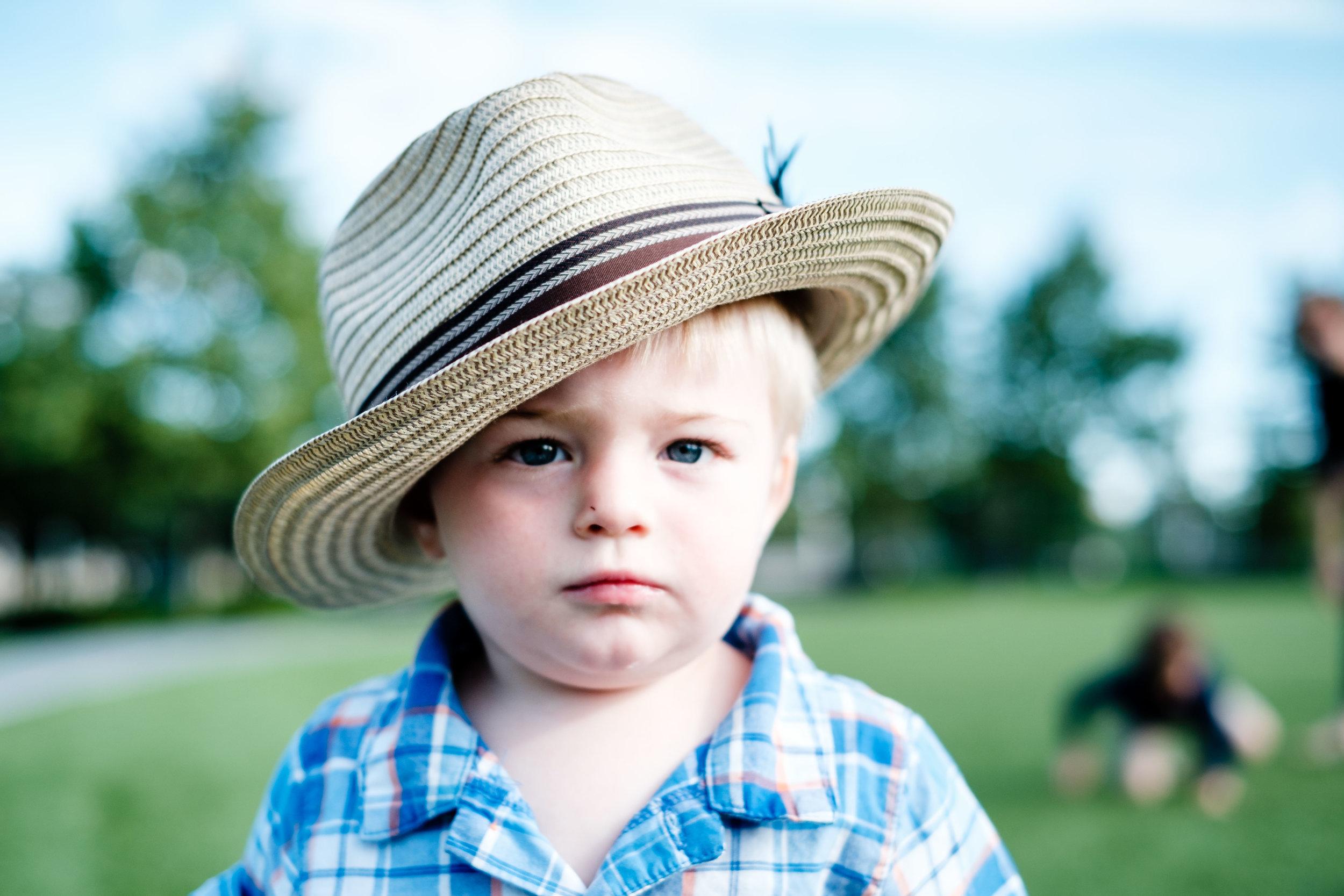 Little guy stole my hat