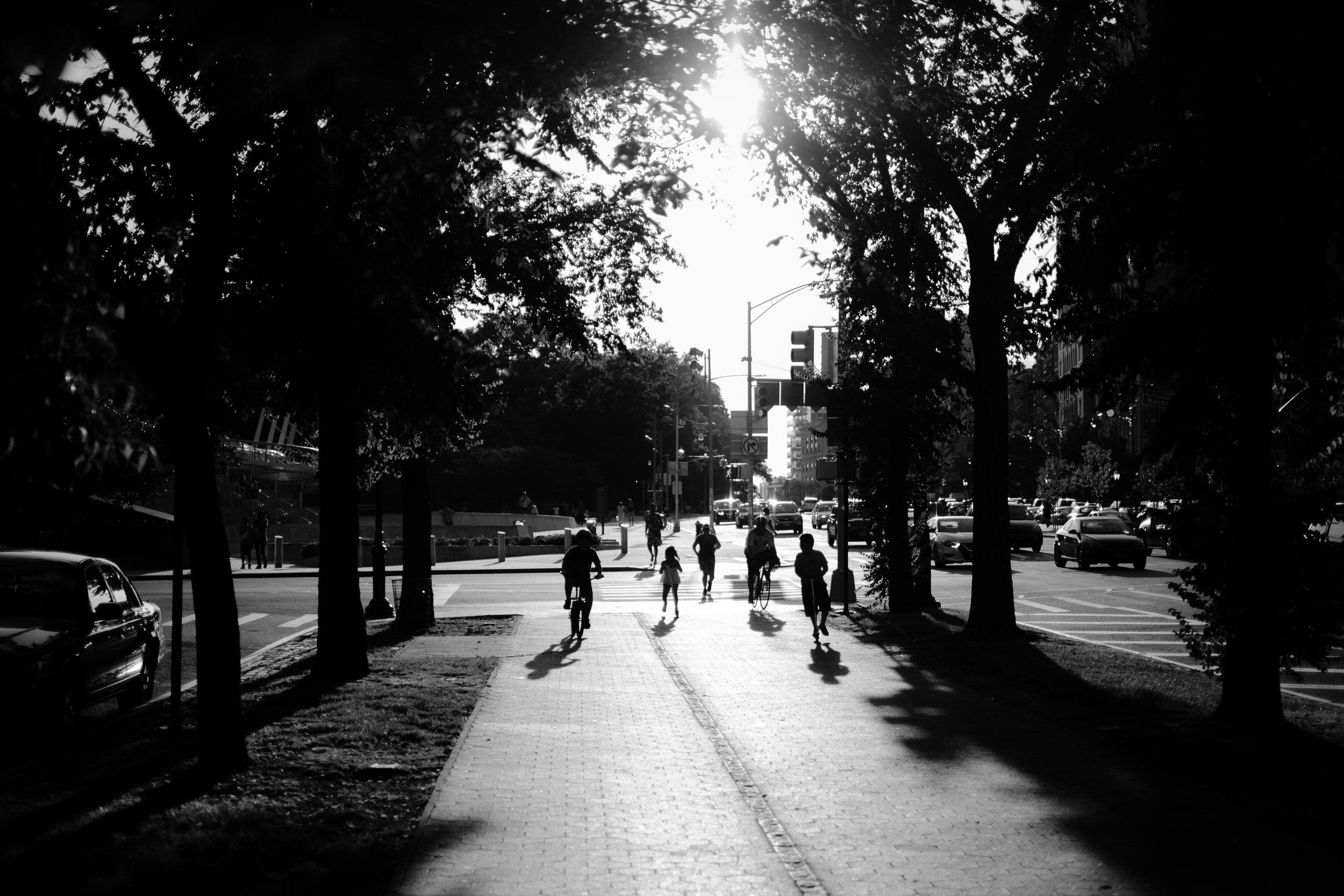Shadows converge