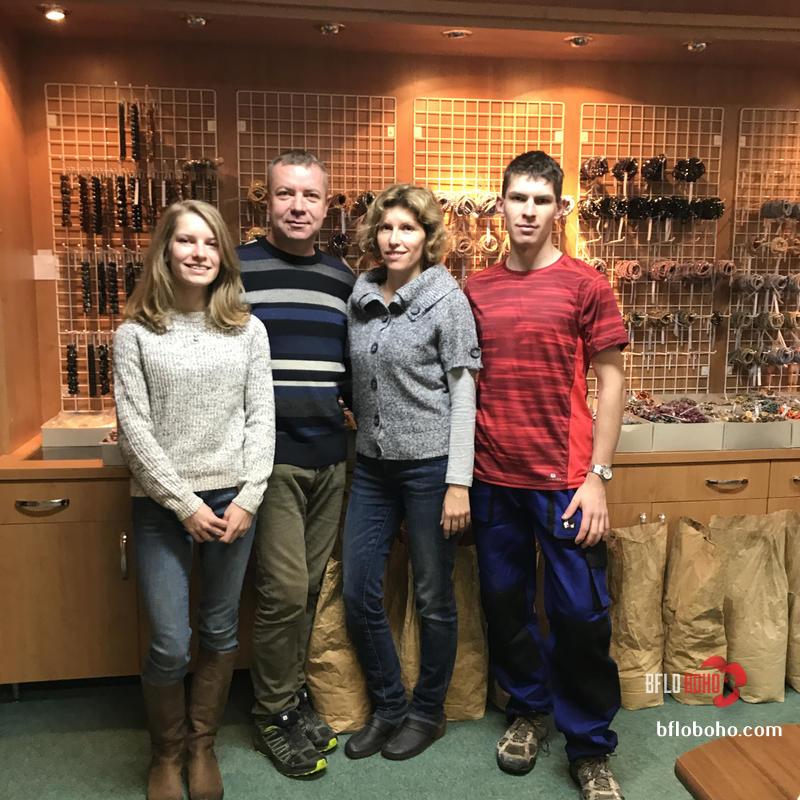 Eva, Jiri, Ivana, Jiri Sikolat he day we met them in Dec 2017