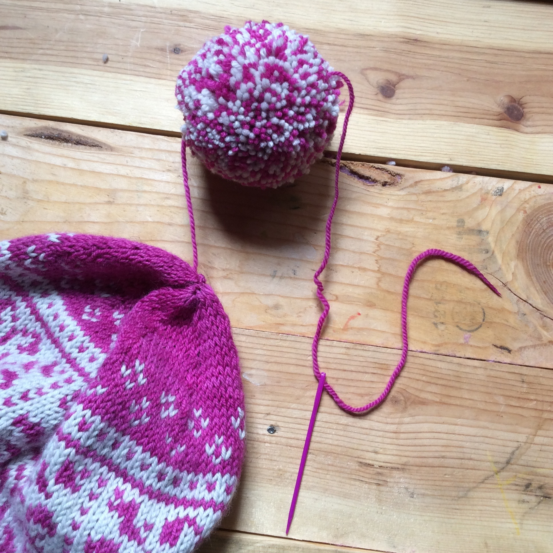 Bonus points for matching your darning needle to your project.