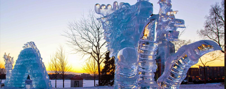 ICE ICE BABY     We get bored in the frozen tundra here, oh ya. What do we do when it the wind chill hits 60 below? We head outside and build a 150' Chinese Dragon to celebrate the Minneapolis Institute of Arts' collection of Asian art. Happy 100th Birthday, friends!