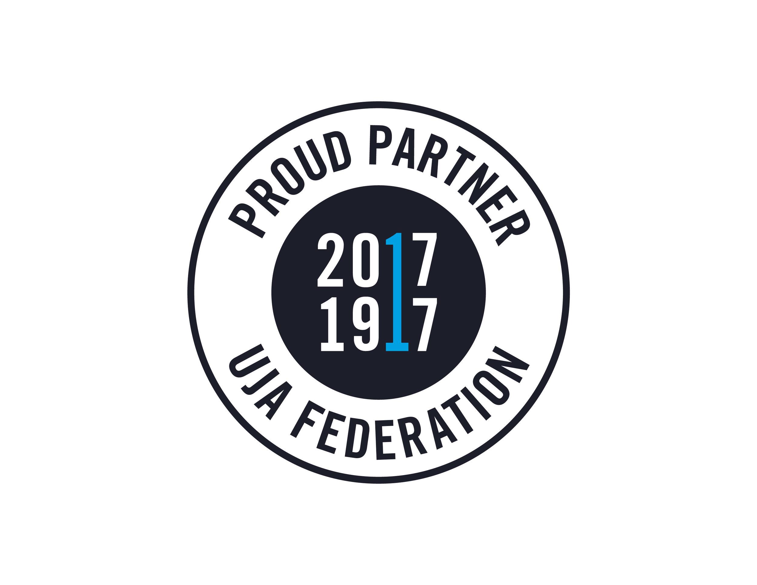 Proud Partner 1917-2017 UJA Federation