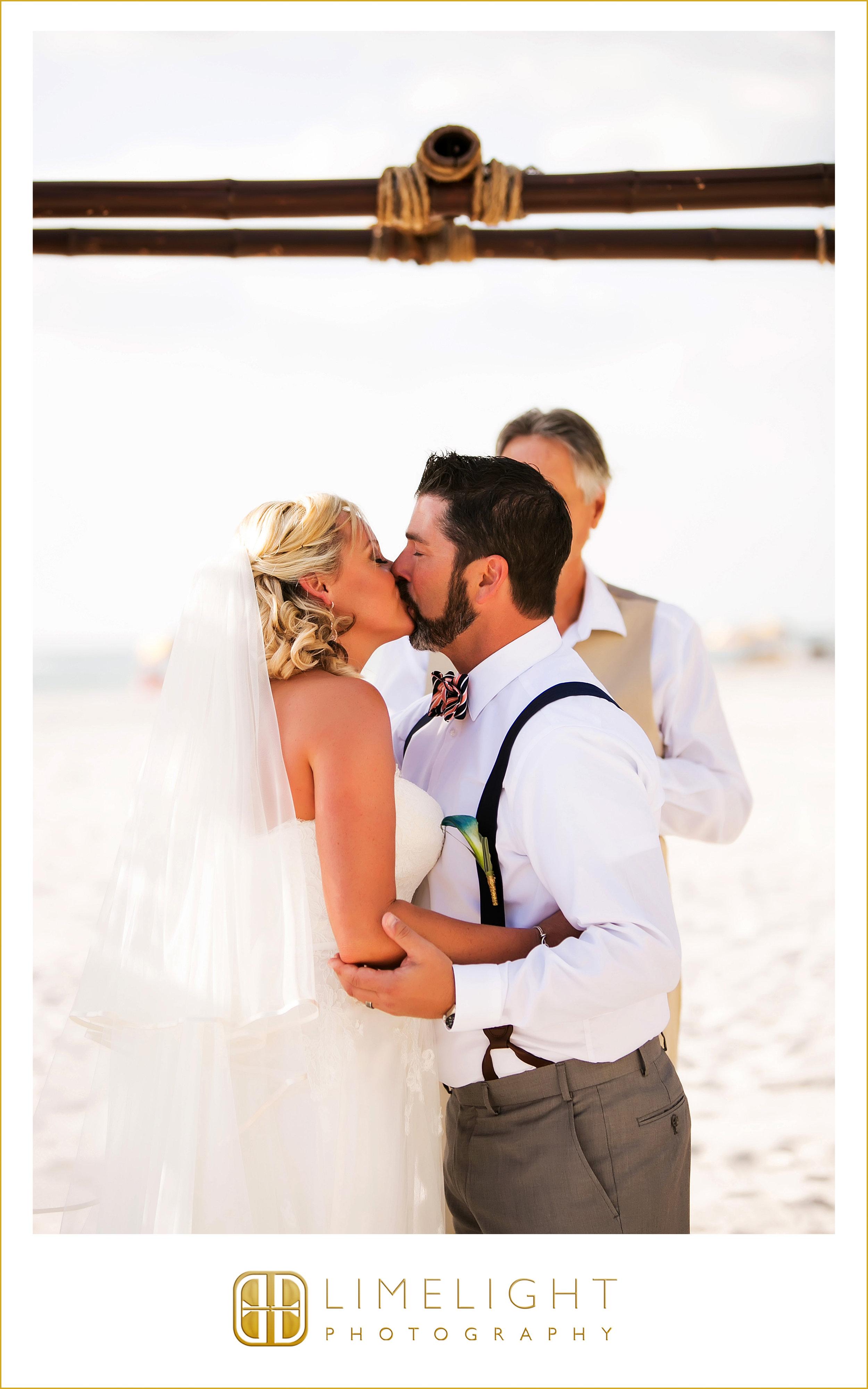 First Kiss | Husband & Wife | Wedding