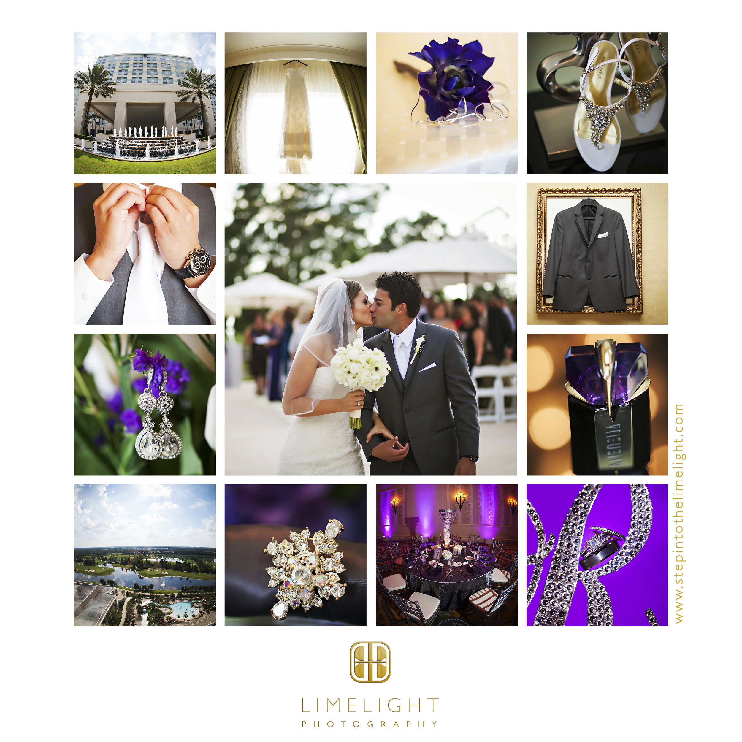 Bride | Groom | Wedding | Hilton Bonnet Creek | Orlando | Florida