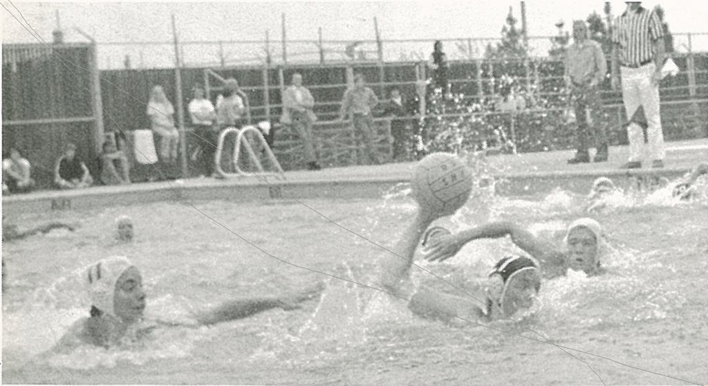 Playing water polo in high school