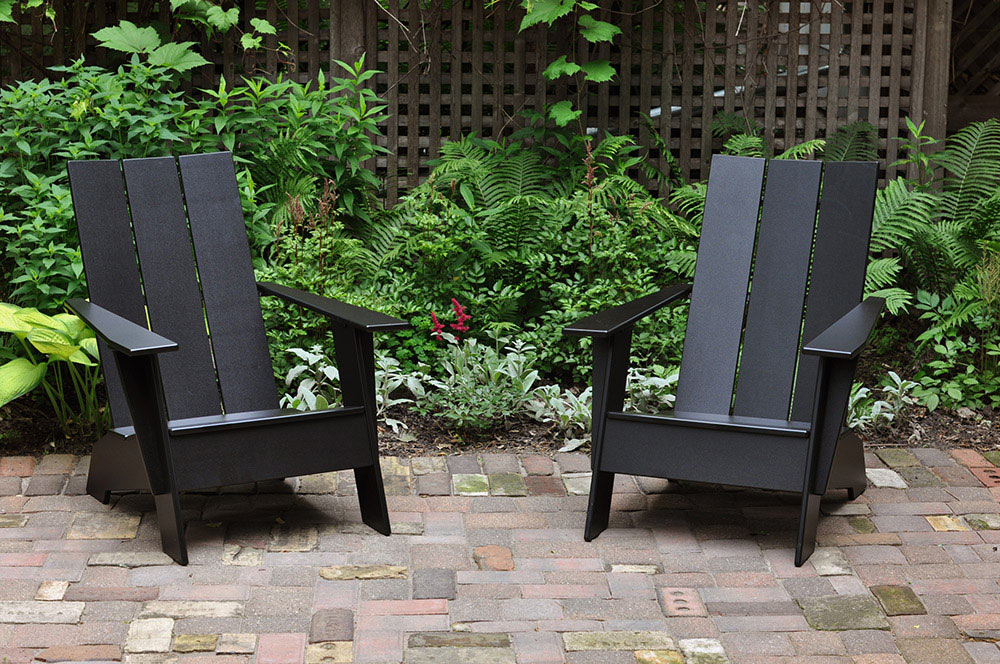 The signature modern Adirondak chairs, one of Greg's side projects that soon developed into Loll Designs.