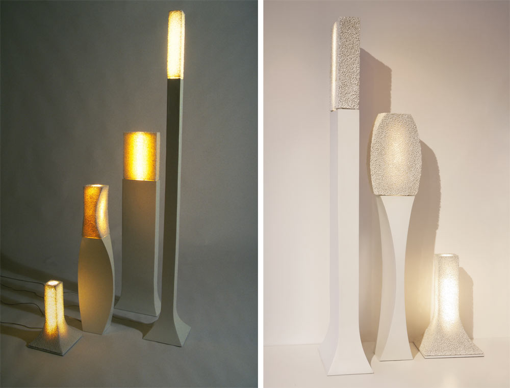 Ceramic foam lamps