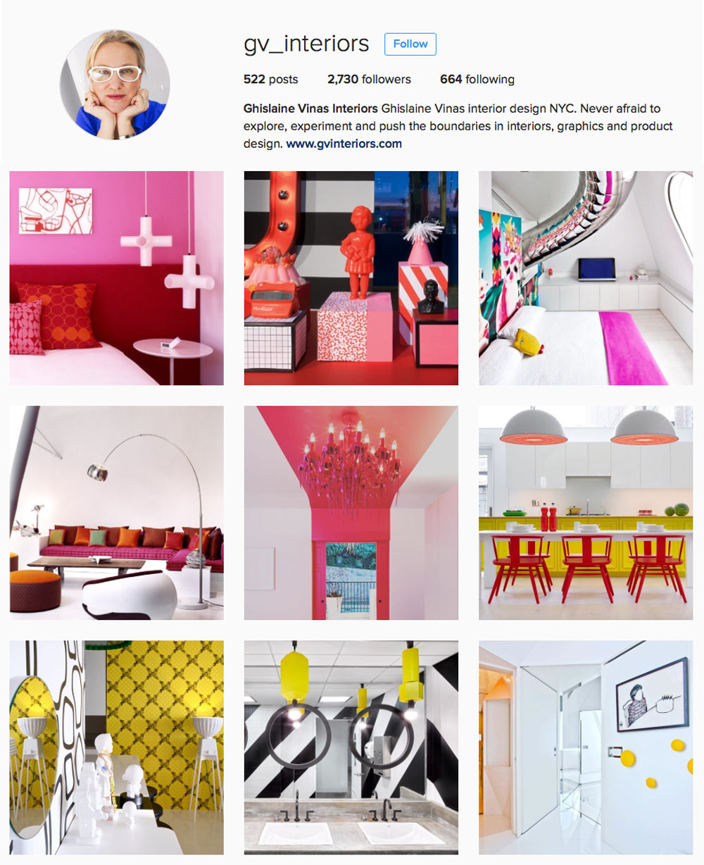 We love to visit Ghislaine's colorful Instagram world.