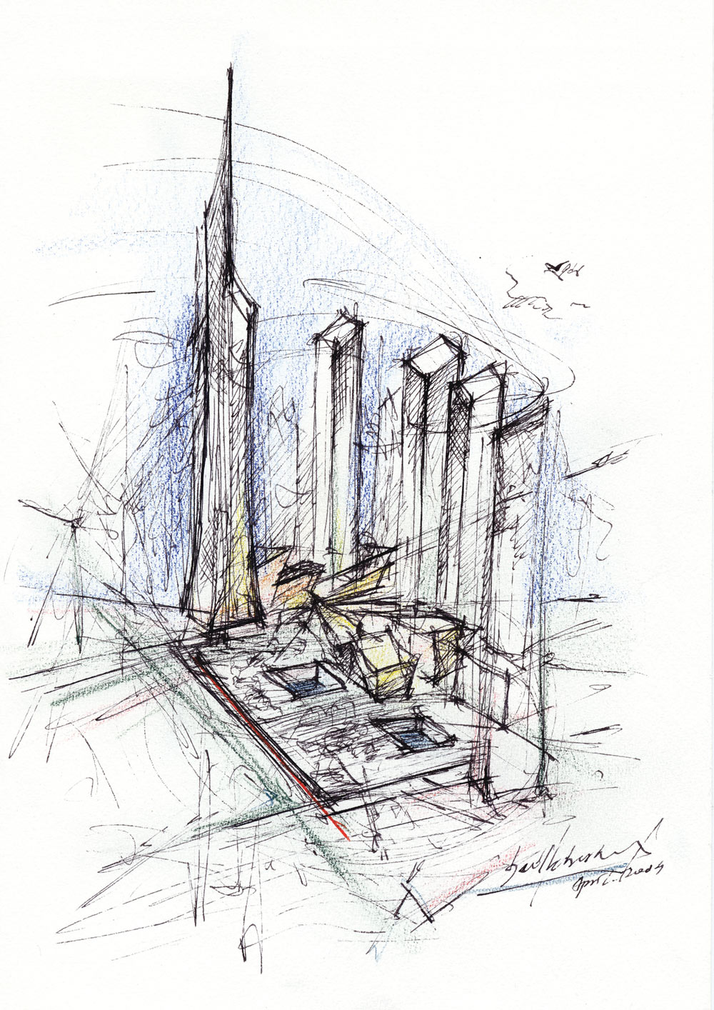 World Trade Center Master plan drawing