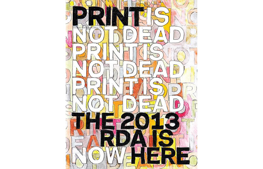 PRINT magazine cover design