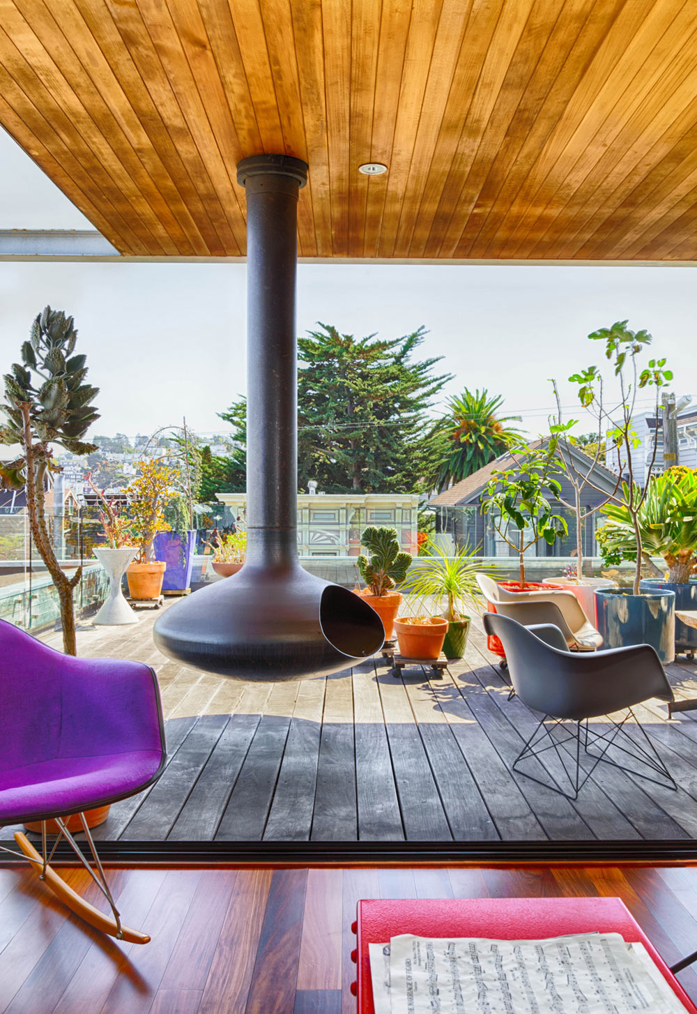 Roof deck of our home and studio in San Francisco. Photo by Daniel Karp