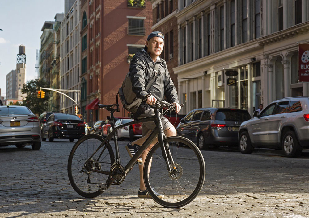 From bike messenger to owner of his company, Jan has traveled to work on his bike since he set foot in NYC.