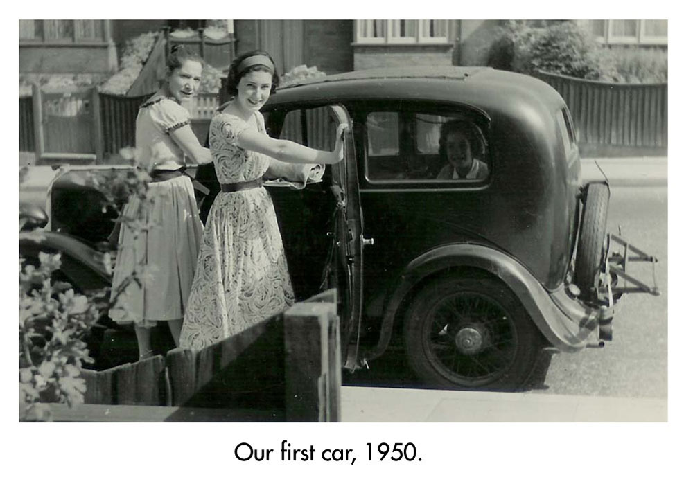 Zandra with her mother and their first car, age 10.