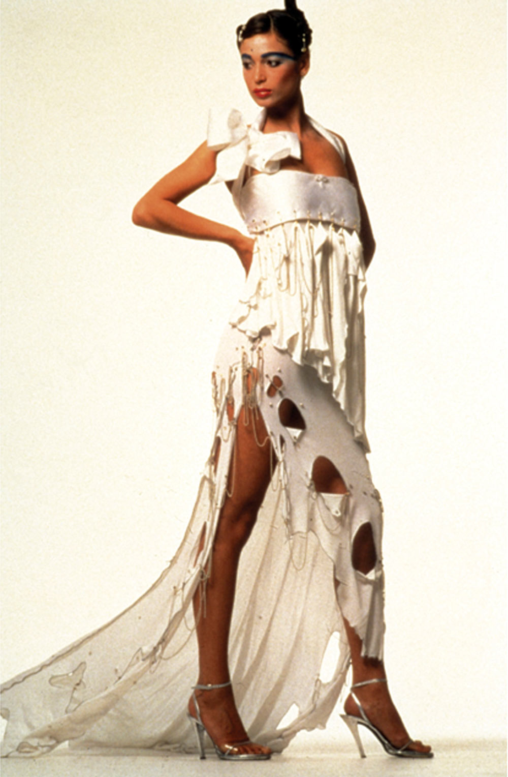 Punk wedding dress in collection of Metropolitan Museum New York. Photographed by Clive Arrowsmith