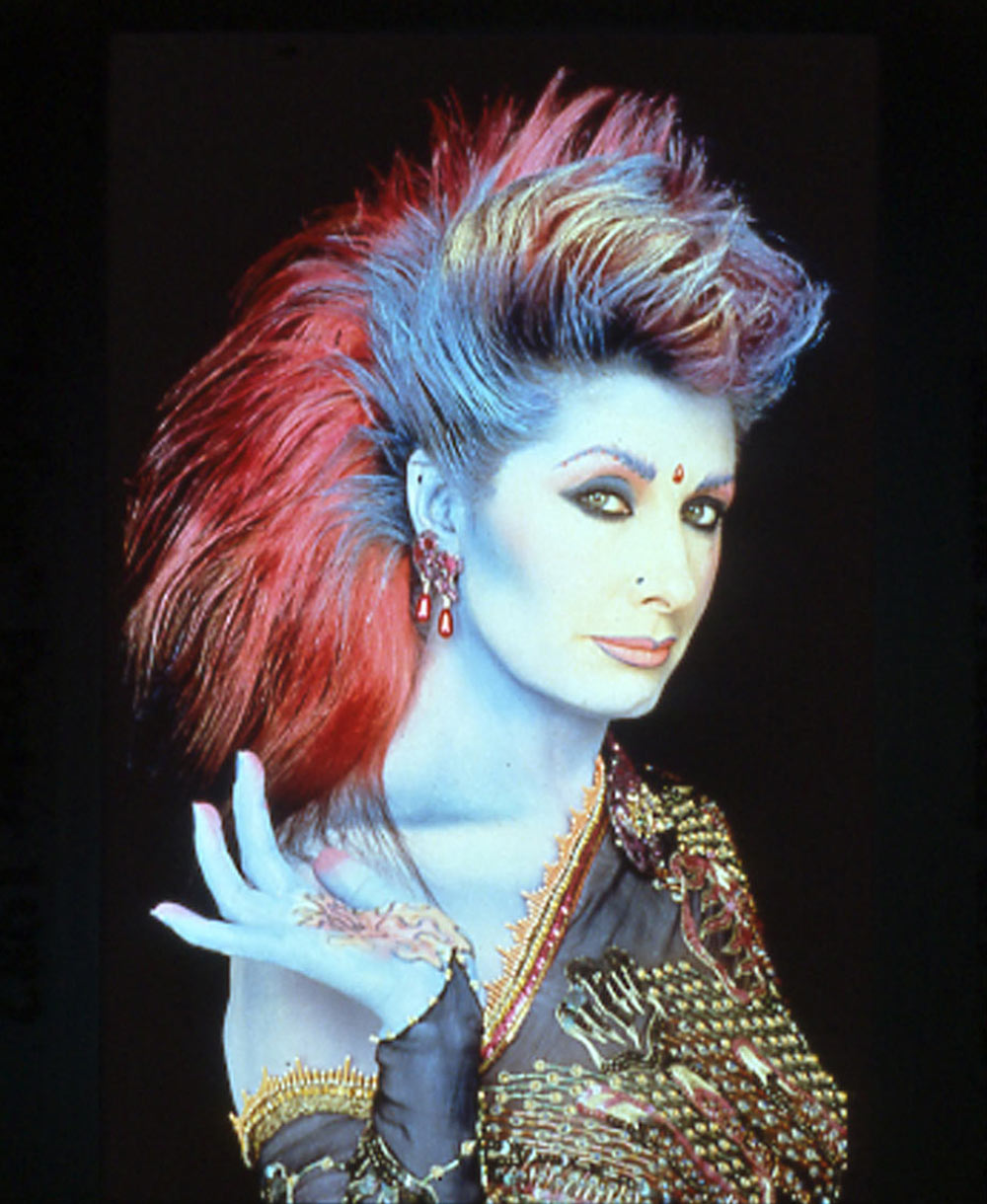Photograph by Robyn Beeche, Pink Mane Portrait 1982. Makeup and Hair by: Yvonne Gold