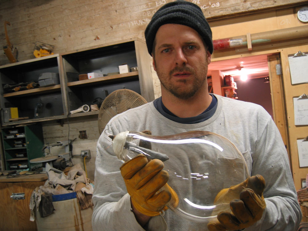 Tyler is a believer in making everything he uses, from fabric for clothing to clay for ceramics.