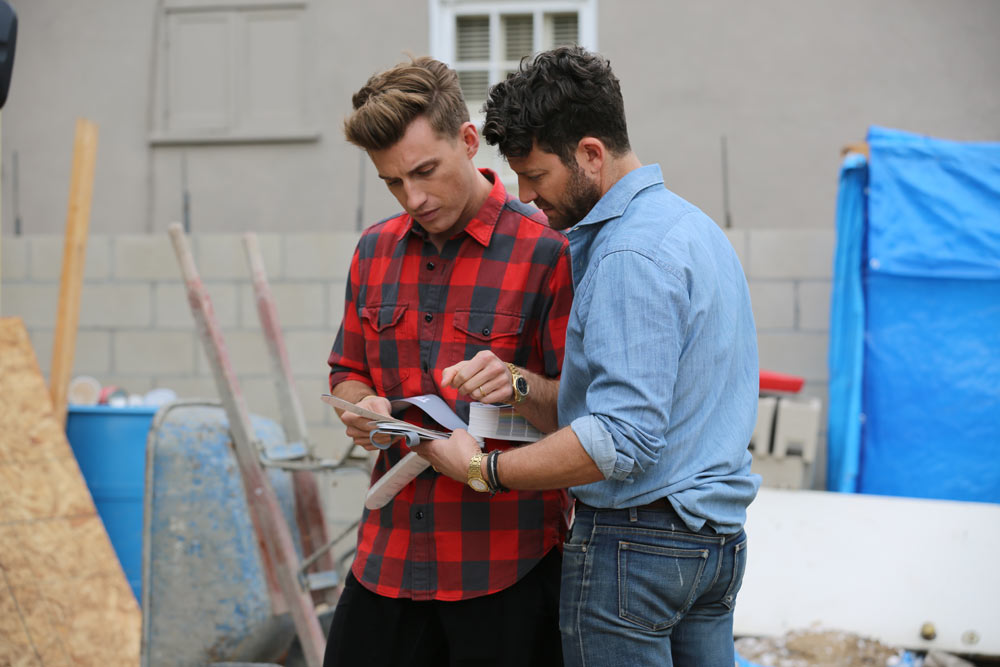 Nate and Jeremiah on the set of their TLC show,  Nate and Jeremiah by Design