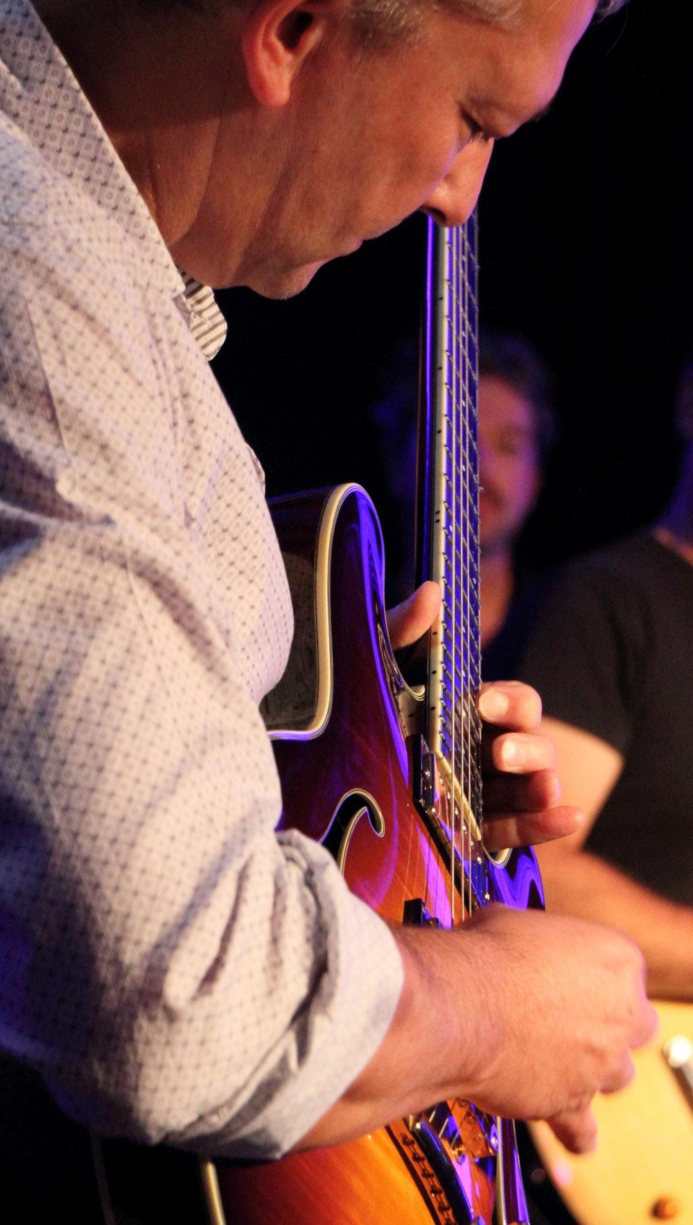 Eric jammin' on the guitar