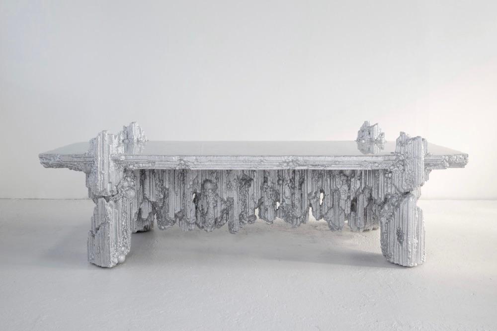 Chris Schanck,Reflectory, 2017,Resin, steel, polystyrene /Courtesy of Friedman Benda and Chris Schanck
