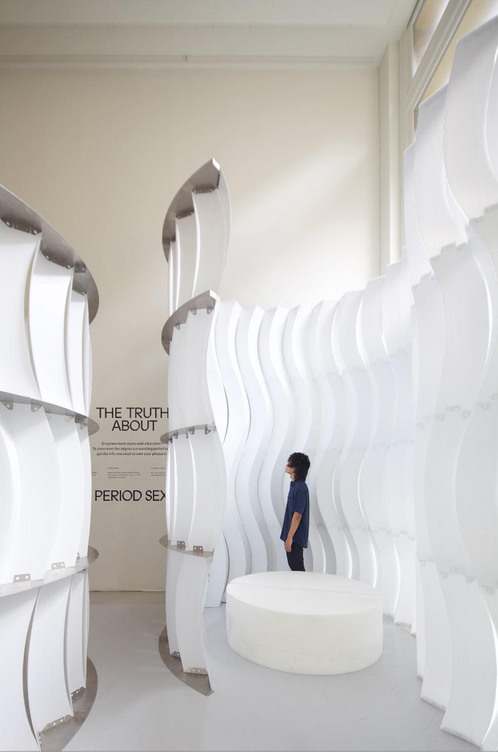Installation for THINX. Photo: Montse Zamorano