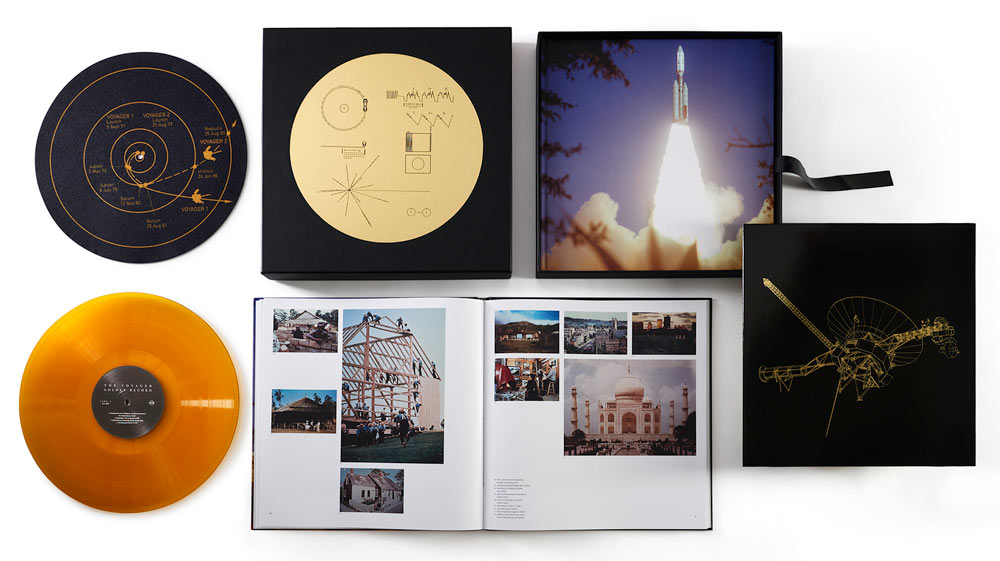The Voyager Golden Record book, Boxed Set, LPs and Slip Mat