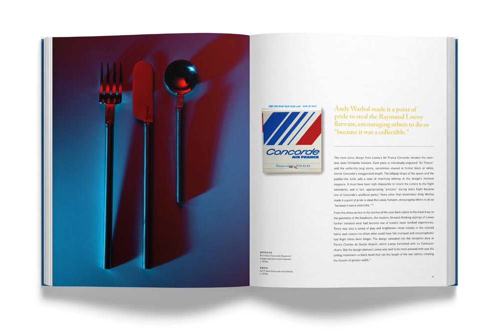 Supersonic: The Design and Lifestyle of Concorde, showing the Raymond Loewy flatware