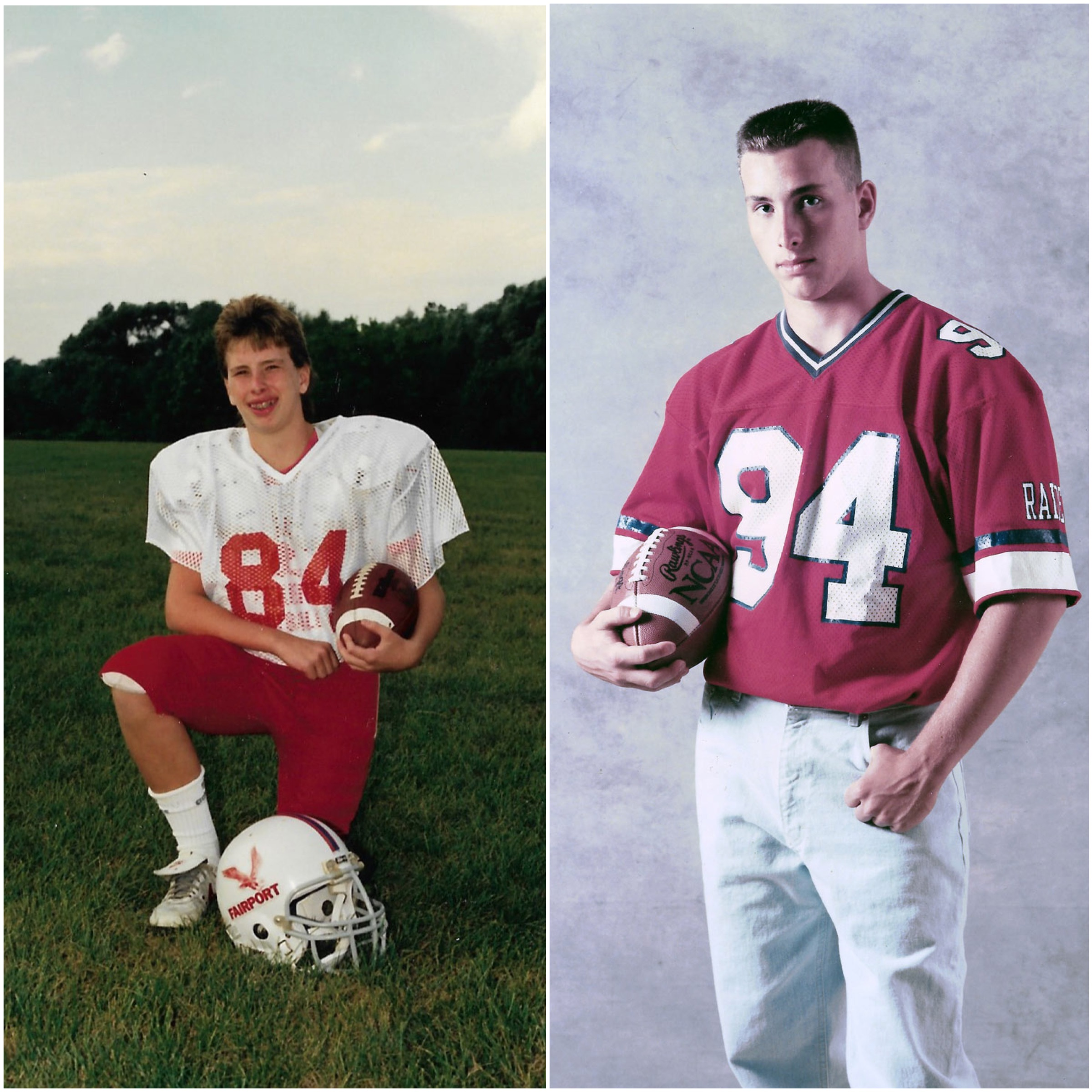 Cory in 1985 and 1993