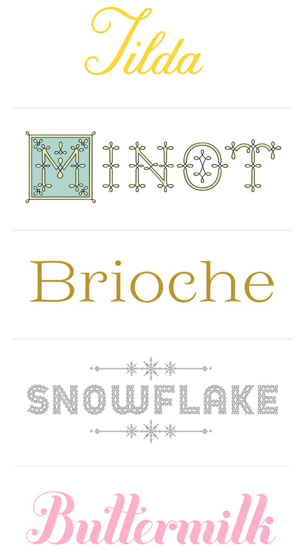 Fonts by Jessica Hische