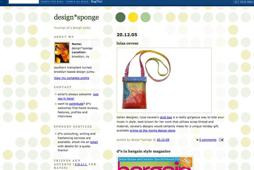 The early days of Design*Sponge